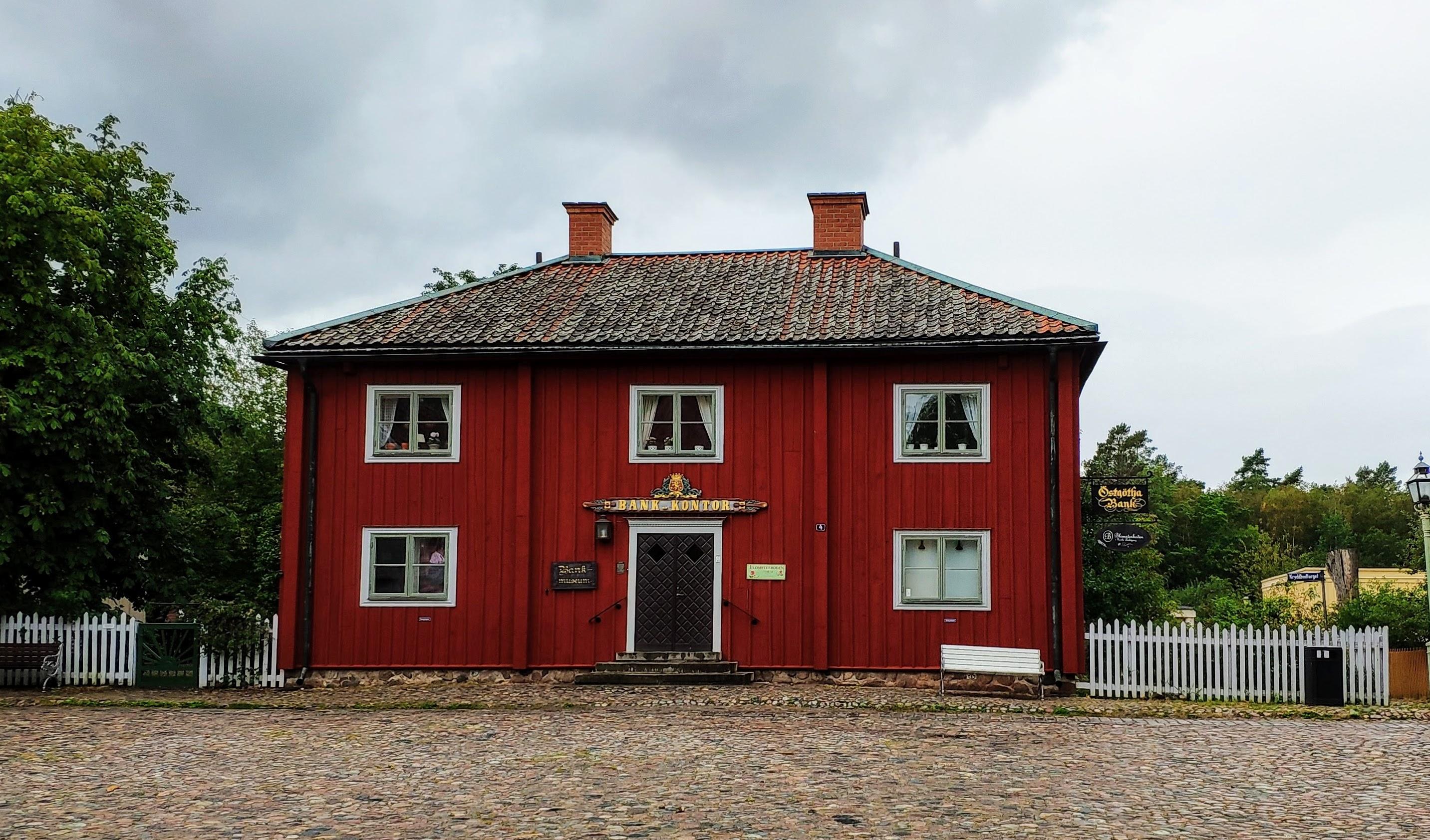 Un bâtiment (banque) de Gamla Linköping