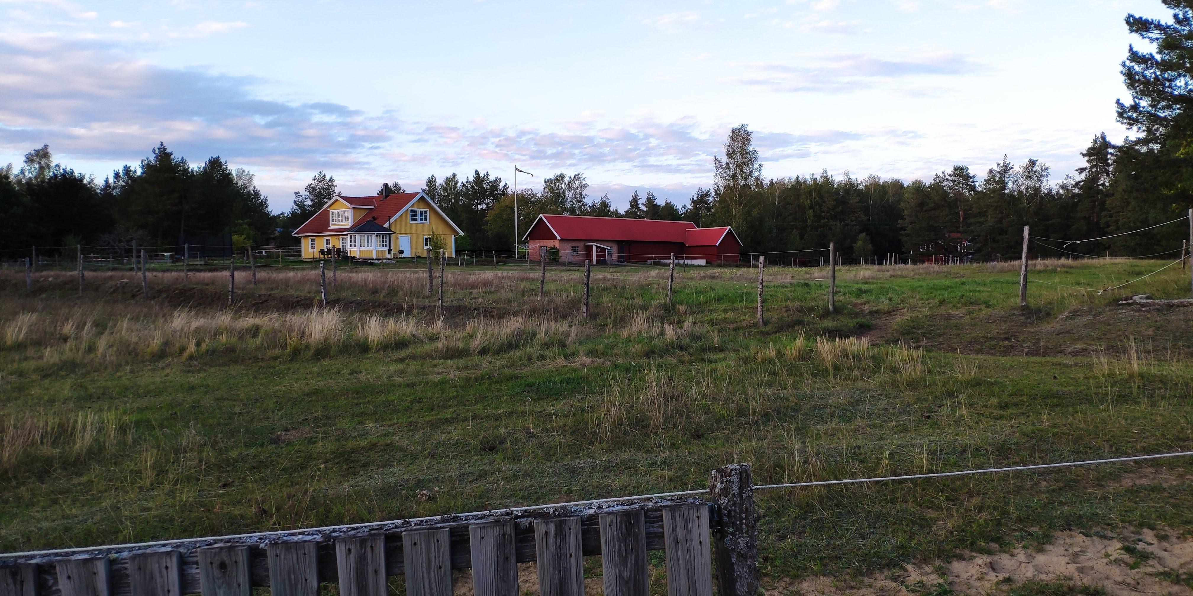 Maisons suédoises sur notre trajet
